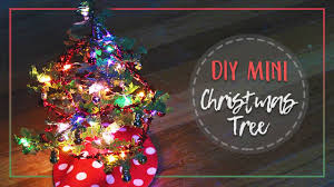 diy mini christmas tree crepe paper youtube