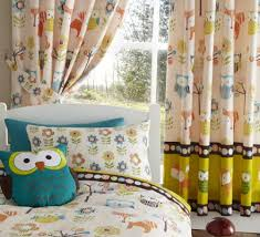 Owl Nursery Curtains Woodland Creatures Owls Luxury Fully Lined Curtains Set 66 X 72