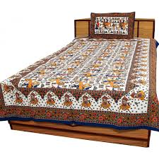 Home Design Rajasthani Style Jaipuri Royal Rajasthani And Floral Print Design Single Bedsheet