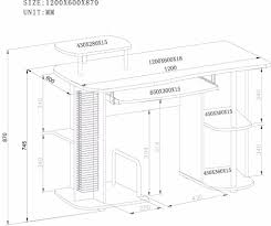 Office Desk Dimensions In Mm Computer Table Parts Thesecretconsul Com