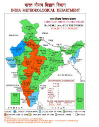 Map Of Punjab India by Rainfall Map Of Indian Metrological Division July August 2017 India