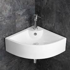 wide basin bathroom sink modern 660mm prato corner basin wall mounted sink perfect for large
