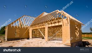 new home being built wood trusses stock photo 14585008 shutterstock