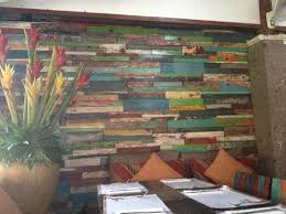 the reclaimed wood wall panel picture of mozzarella restaurant