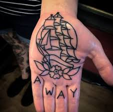 awesome dot work dollar symbol tattoo on hand palm