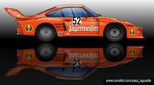 jagermeister porsche 935 illustration manfred schurti s jägermeister porsche 935