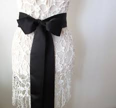 bow belt black matte satin sash bow belt wedding sash bridal sash