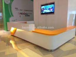 Unique Reception Desks Fancy And Fashion Counter Design Unique Solid Surface Salon
