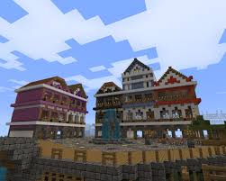 european town houses minecraft project