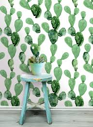Home Wallpaper Decor by Watercolor Cacti Wallpaper More Info More Cactus H O M E