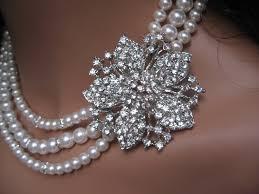 swarovski crystal flower necklace images Bridal swarovski crystal necklace jpg
