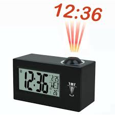 light projection alarm clock alarm clock with projection light hour wall