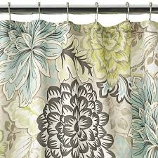 Green And Brown Shower Curtains Lovely Green Brown Shower Curtain Reiko Floral Brown Green Blue