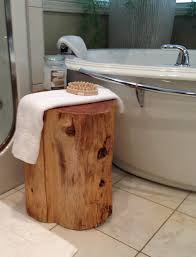 cedar stump end table in bathroom spa pinterest spa spa