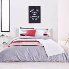 White And Red Comforter Lacoste Bedding Duvet Covers Comforters U0026 Sheets