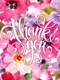 thank you flowers pink flower thank you card birthday greeting cards by