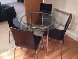 Ikea Chair Black Ikea Salmi Glass Dining Table With 4 Ikea Martin Chairs Black
