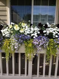 front porch railing flower box deck flowers pinterest front