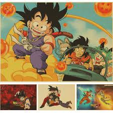 dragon home decor wall sticker vintage classic cartoon anime dragon ball poster bar