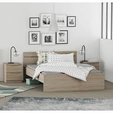 cdiscount chambre complete adulte chest chambre adulte complète style contemporain décor chêne brossé