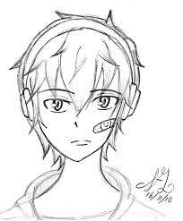 11 images of anime boy with headphones coloring pages anime boy