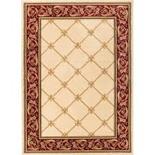 home decorators collection meadow damask ivory 7 ft 10 in x 10