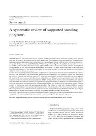 tilt table protocol for physical therapy a systematic review of supported standing pdf download available