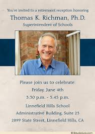 retirement announcement reception photo invitation faithful service schools