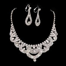 bridal necklace earring images 2018 2015 bridal necklace earring sets chain new piece of high jpg
