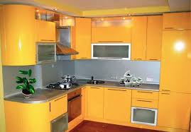 small kitchen remodeling ideas accentuated with sunny yellow color