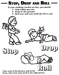 stop drop and roll worksheet worksheets