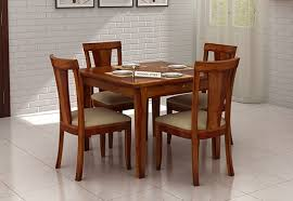 Seater Dining Table Set Online  Dining Table Four Seater Set - 4 chair dining table designs