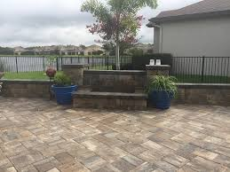 Fire Columns For Patio Elite Pavers Of Tampa Bay Tampa U0027s 1 Brick Paver Installation