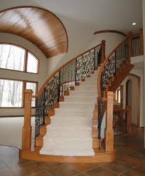 Free Standing Stairs Design Custom Stairways Ornate Wrought Iron Balusters In Wood Staircase