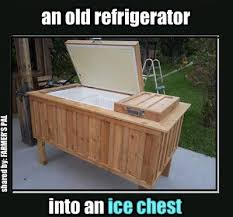 brilliant refrigerator turned ice chest curbly