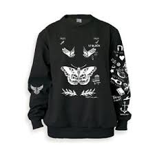 one direction sweater harry styles tattoos black sweatshirt sweater one direction shirt