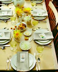 Thanksgiving Table Settings by A Yellow Thanksgiving Table Martha Stewart