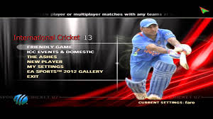 ea sports games 2012 free download full version for pc international cricket 2013 menu preview 1 youtube