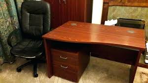 Office Desk Locks Office Desk Office Desk Locks Large Mahogany Effect Curved