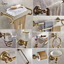 buy bathroom accessories brass and get free shipping on aliexpress com