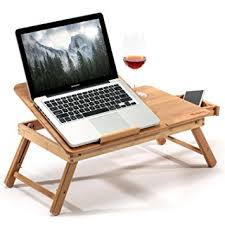 lighted laptop desk tray amazon com laptop desk adjustable breakfast serving bed tray with