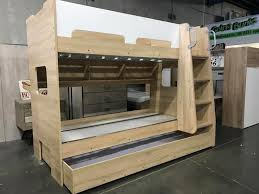 Single Bunk Bed With Desk Single Bunk With Pullout Trundle And Desk With Hutch New Arrival