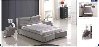 modern bedroom 5190 grey bed n519 nightstands