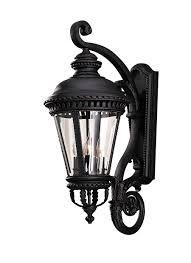 Lantern Style Outdoor Lighting by Ol1904bk 4 Light Wall Lantern Black