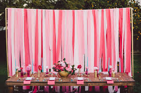 streamer backdrop hot pink and blue wedding ideas event design streamers and