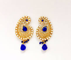 earrings uk pearl gold aam baali earrings pj120 colours available sajaa online