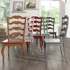 Ladder Back Dining Chairs Eleanor Ladder Back Wood Dining Chair Set Of 2 By Inspire