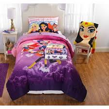 Superhero Double Duvet Set Superhero Girls Comic Kids Bedding Bed In A Bag Bedding Set