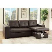 Pull Out Bed Sofa Espresso Faux Leather Sectional Set Pull Out Bed Sofa Chaise