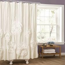 Ruffle Shower Curtain Anthropologie Curtain Ruffle Shower Curtain Ombre Ruffle Shower Curtain Blue
